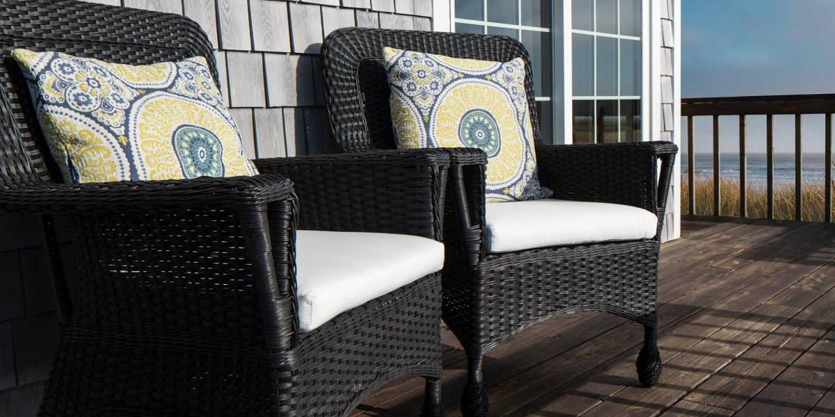 geometric black rattan chairs