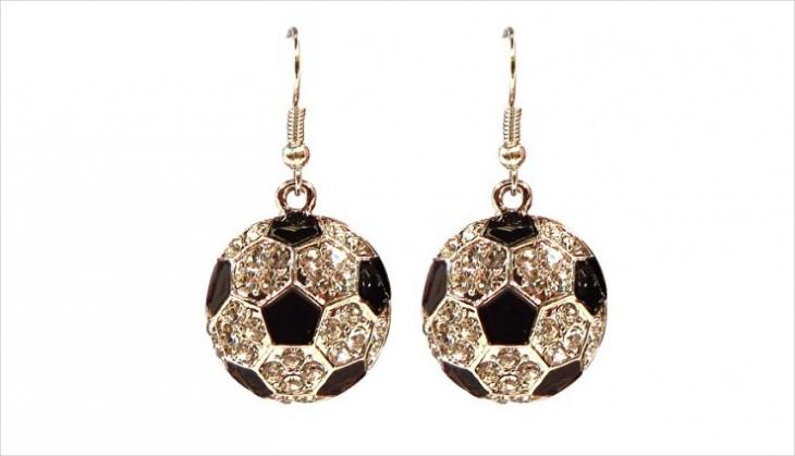 Soccer Ball Earrings Idea