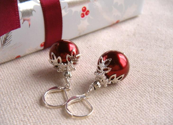 Red Ball Earrings Idea