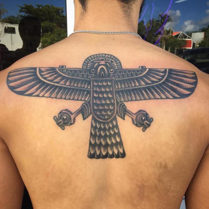 Egyptian Falcon Tattoo