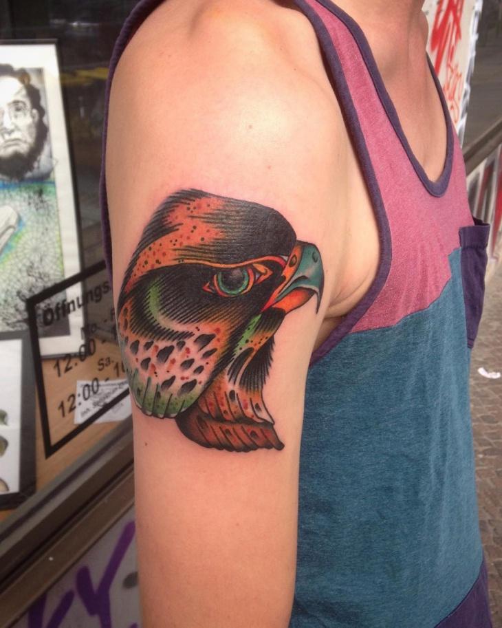 Falcon Arm Tattoo Idea