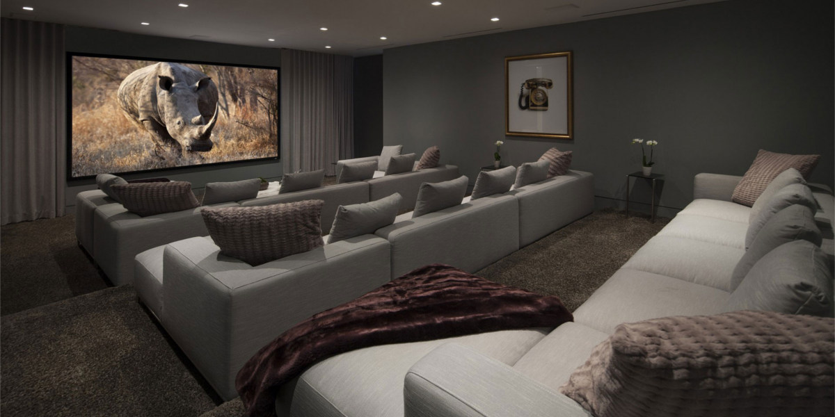 Modern and Large Home Theater