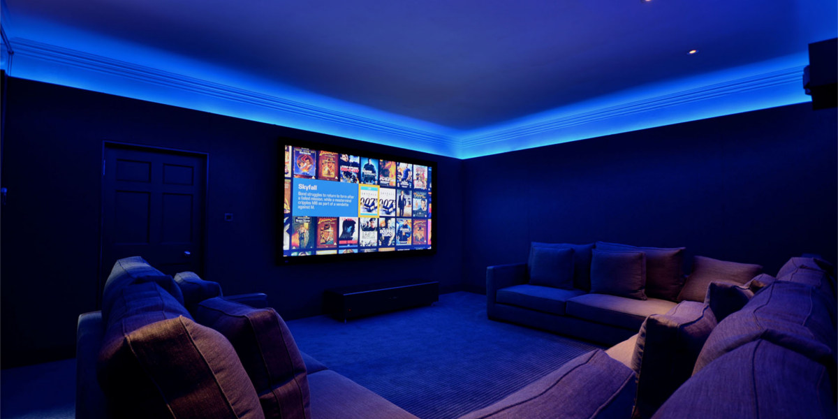 Couch Comfortable Home Theater