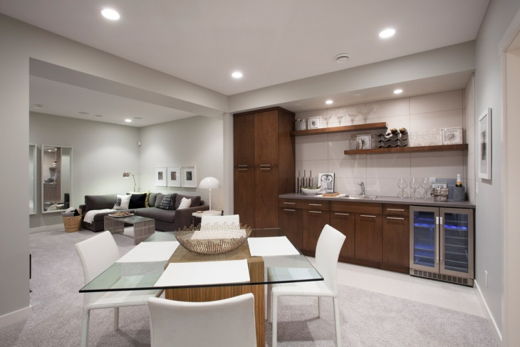 classic basement kitchen