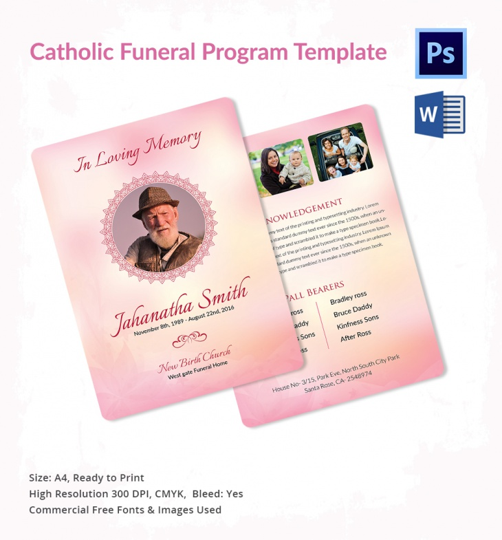 High Resolution Catholic Funeral Template