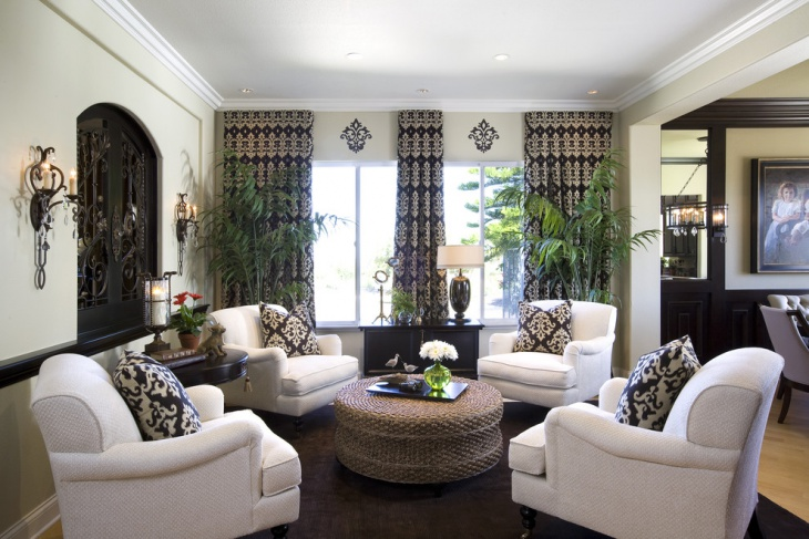 traditional home living room interior