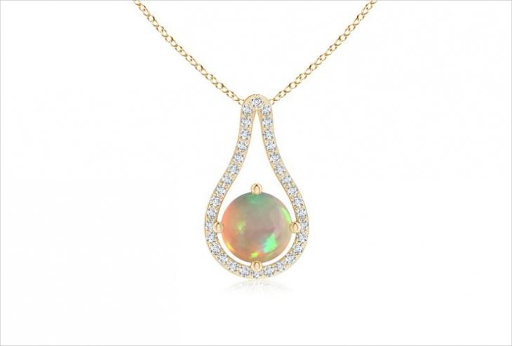 floating opal pendant