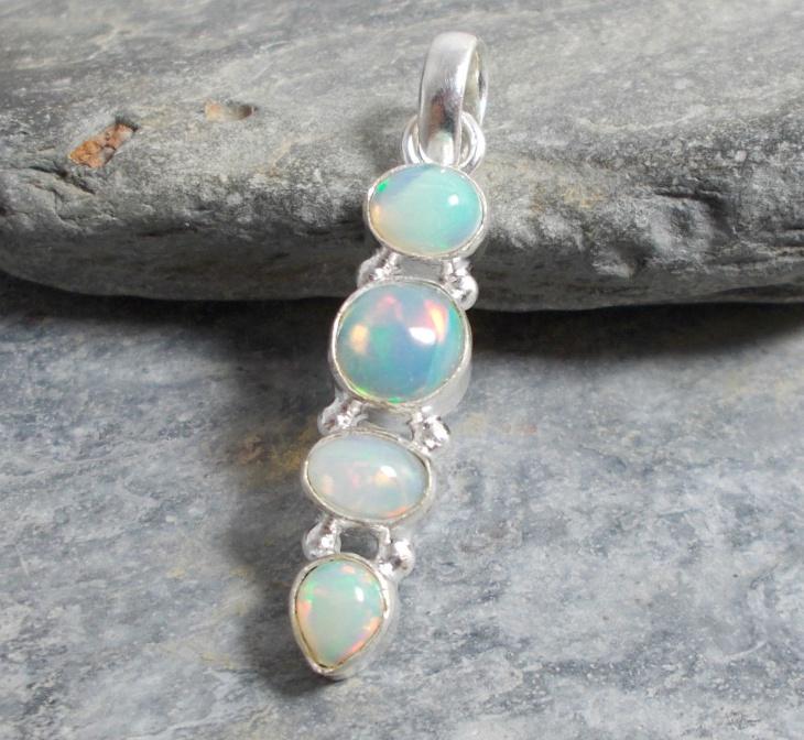 unique opal pendant design