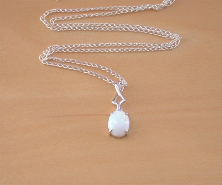 white opal pendant idea