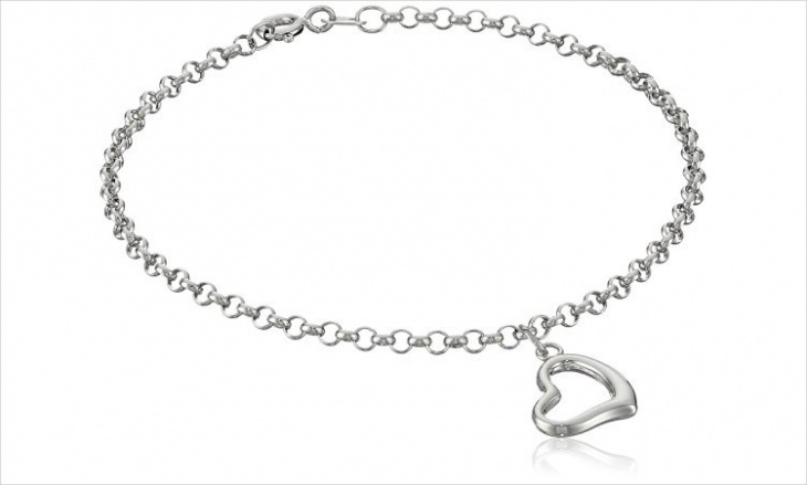 Dangle Heart Bracelet