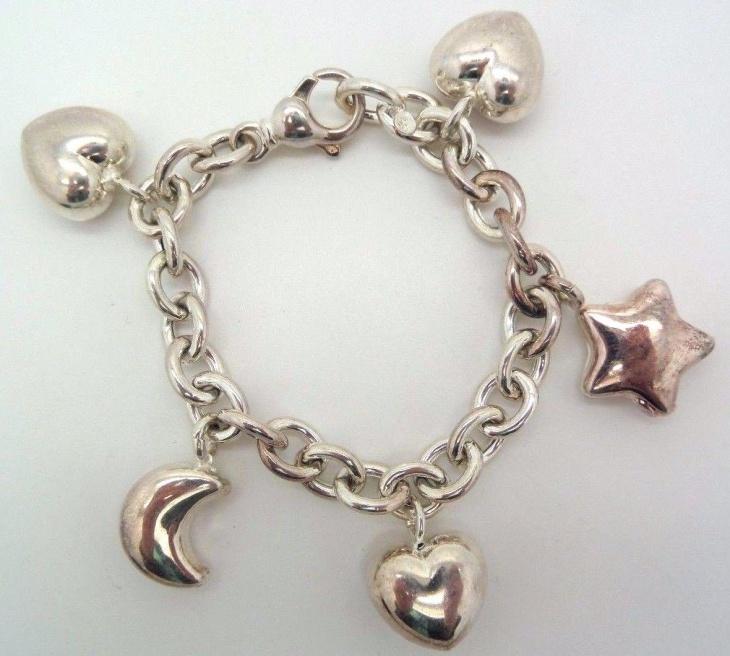 vintage heart bracelet