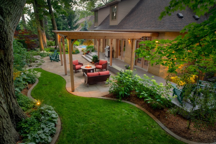 Backyard Patio Design with Pergola