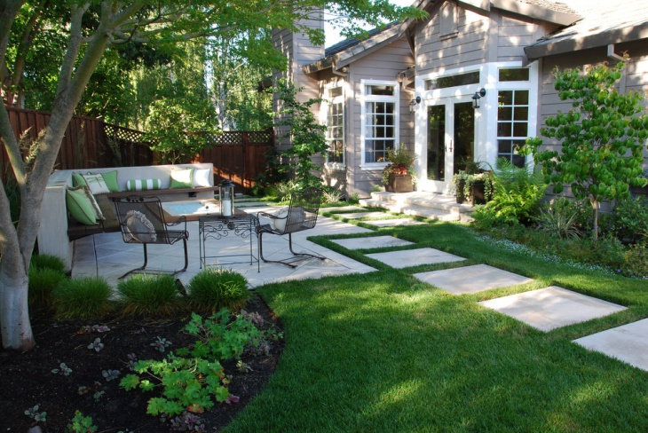 Cottage Backyard Patio Idea