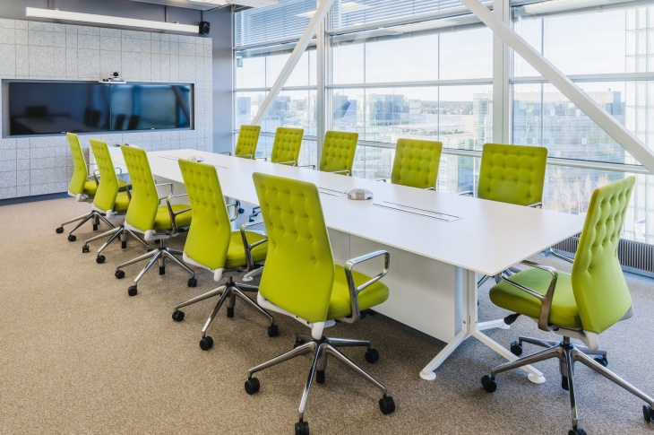 conference room green chairs idea