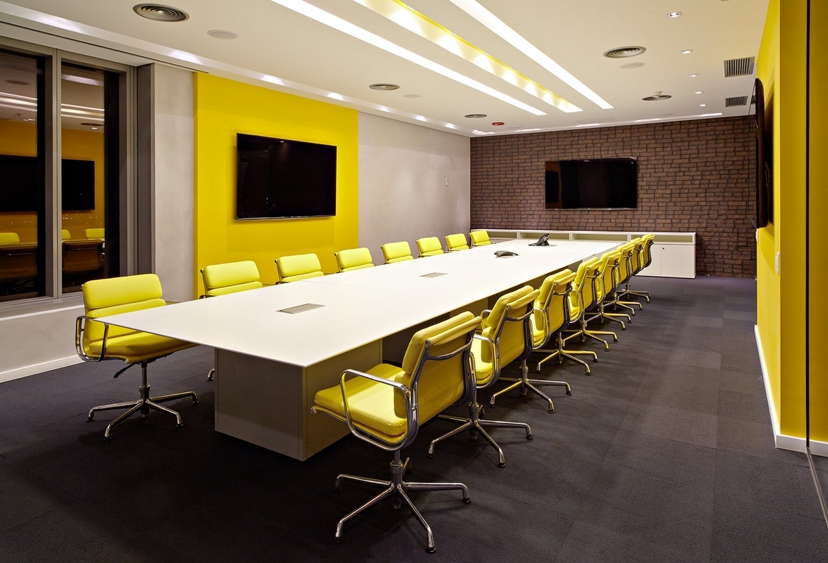 conference room yellow chairs idea