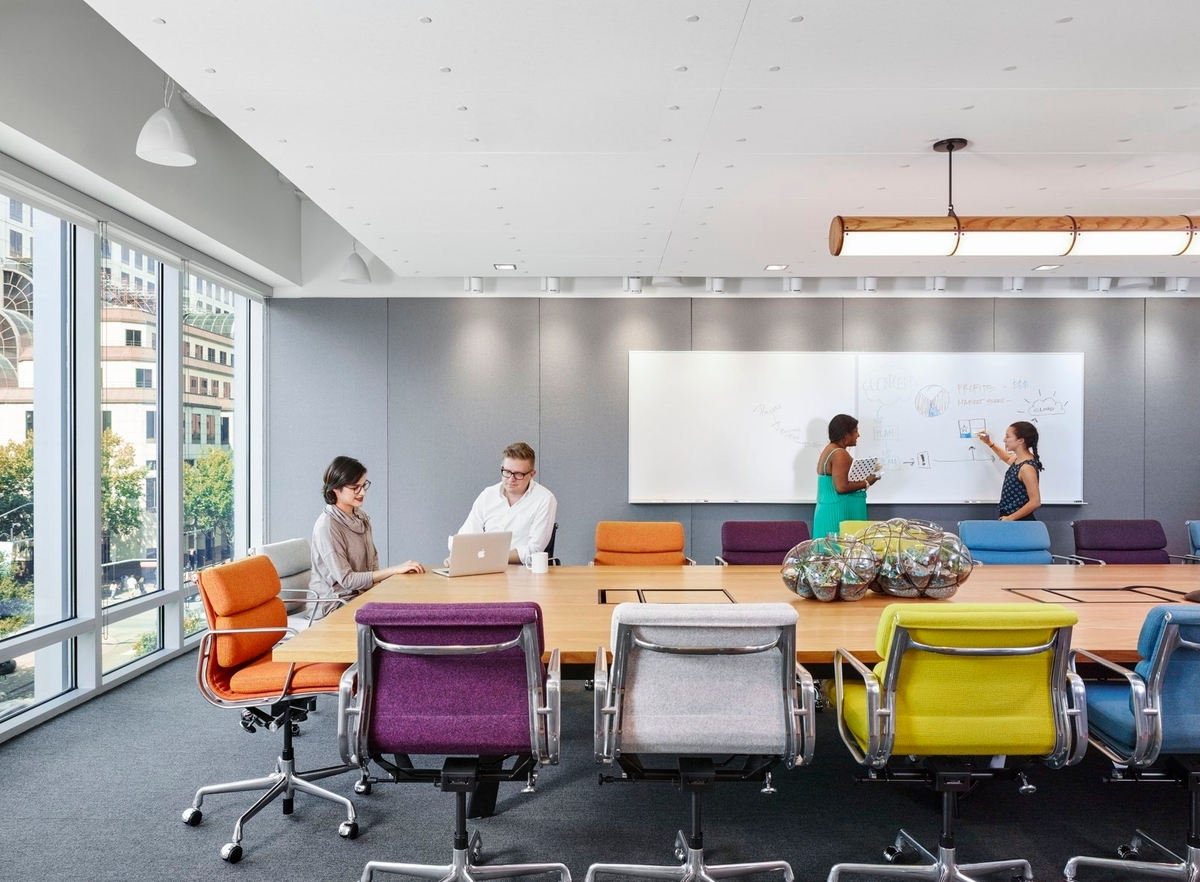 conference room color chairs idea