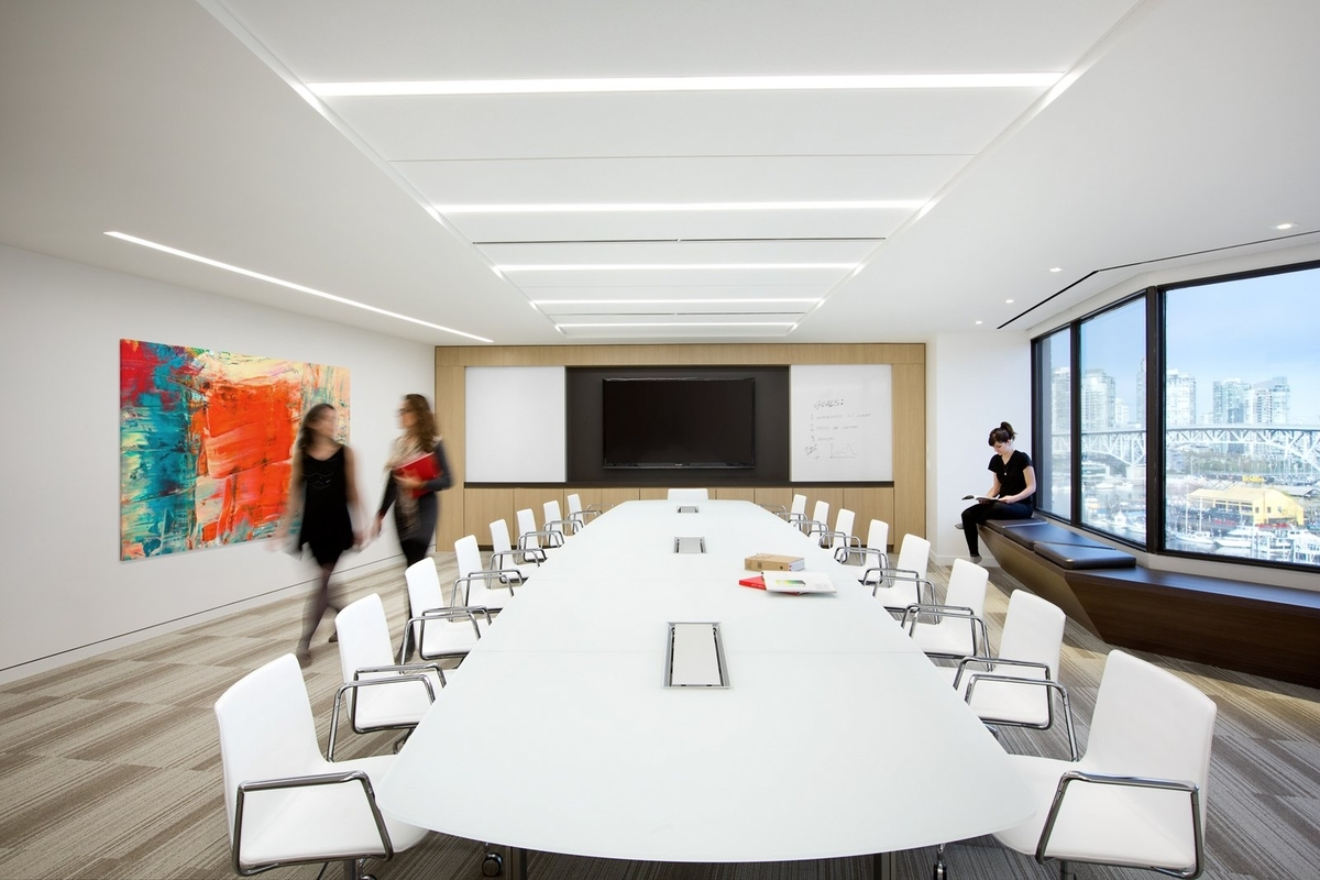 conference room white chairs design