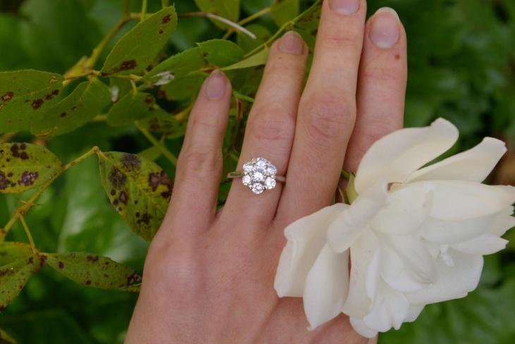 Diamond Daisy Ring Design