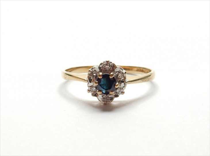 vintage daisy cluster ring