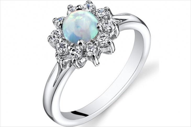 Opal Daisy Ring