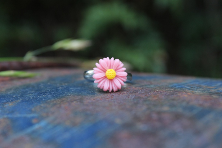 pink daisy ring idea