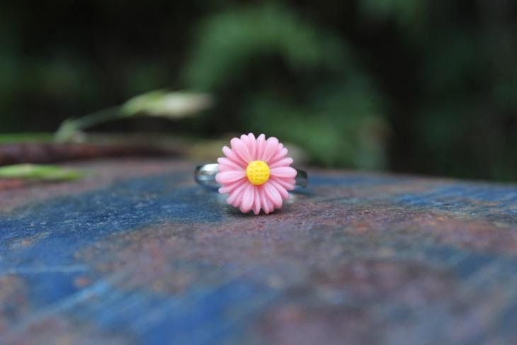 Pink Daisy Ring Idea