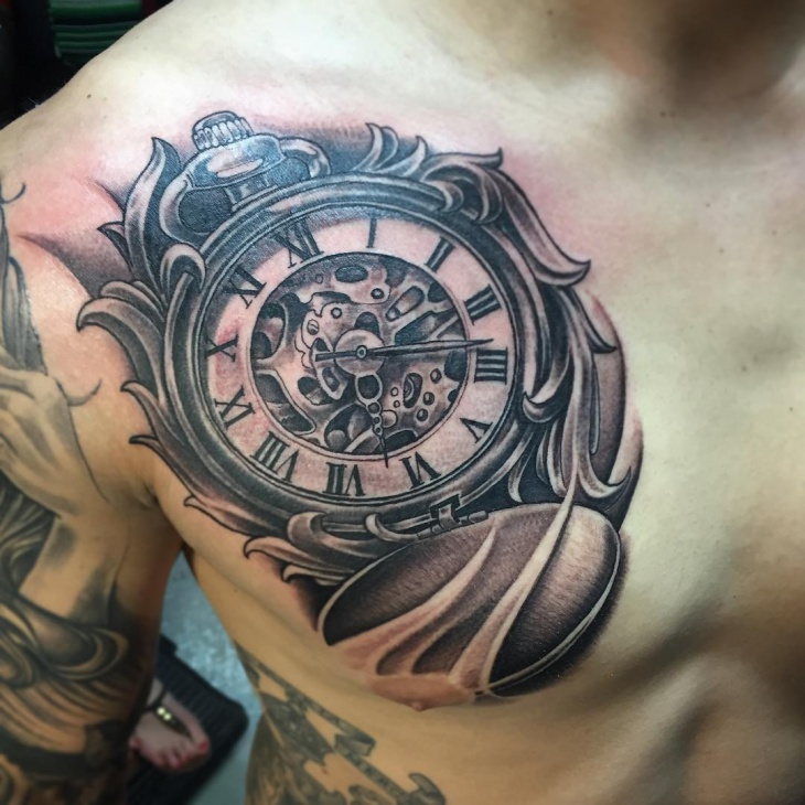 21 pocket watch tattoo designs ideas design trends for Pocket watches tattoos