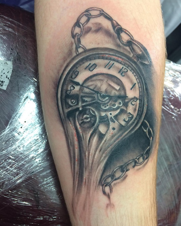 Cool Pocket Watch Tattoo