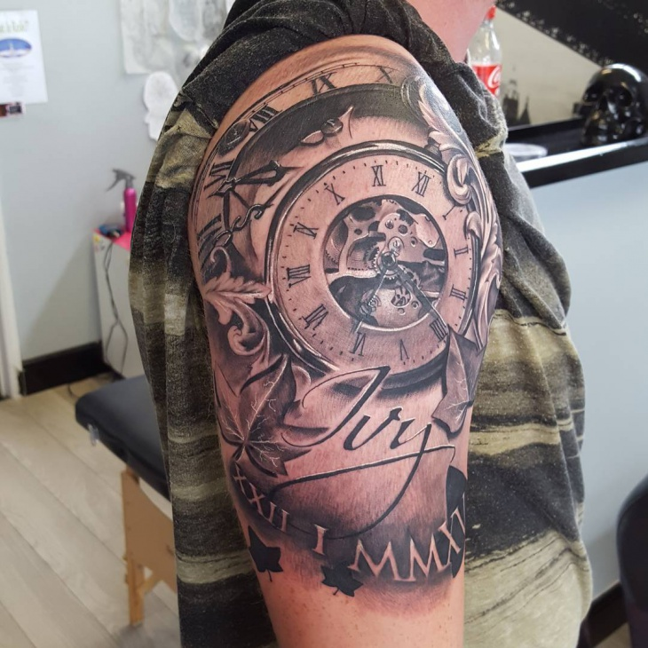 Gorgeous Pocket Watch Tattoo Design
