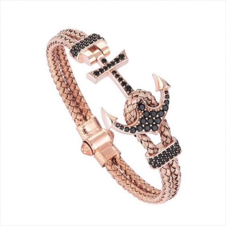 Rose Gold Braided Bracelet