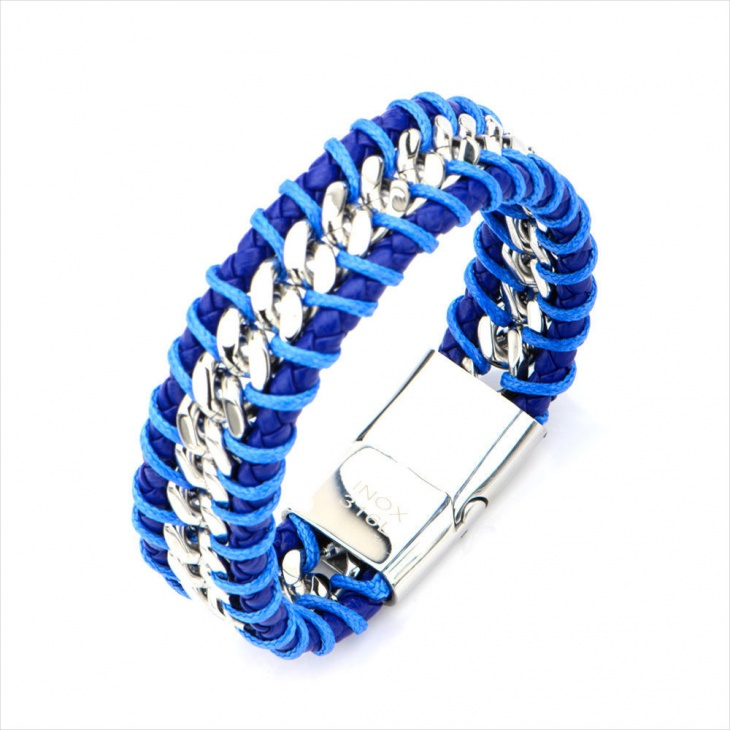 Blue Braided Bracelet Design