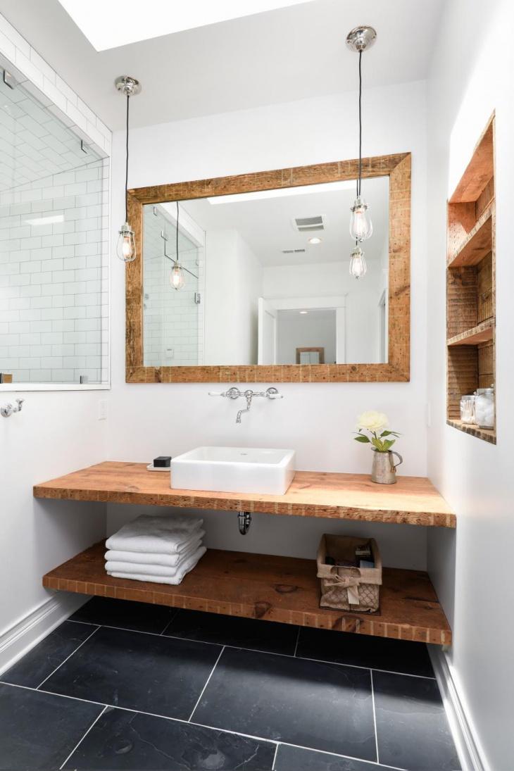 rustic master bathroom vanity design