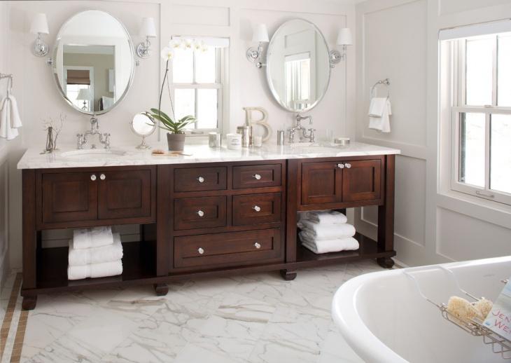 rustic bathroom hardwood vanity