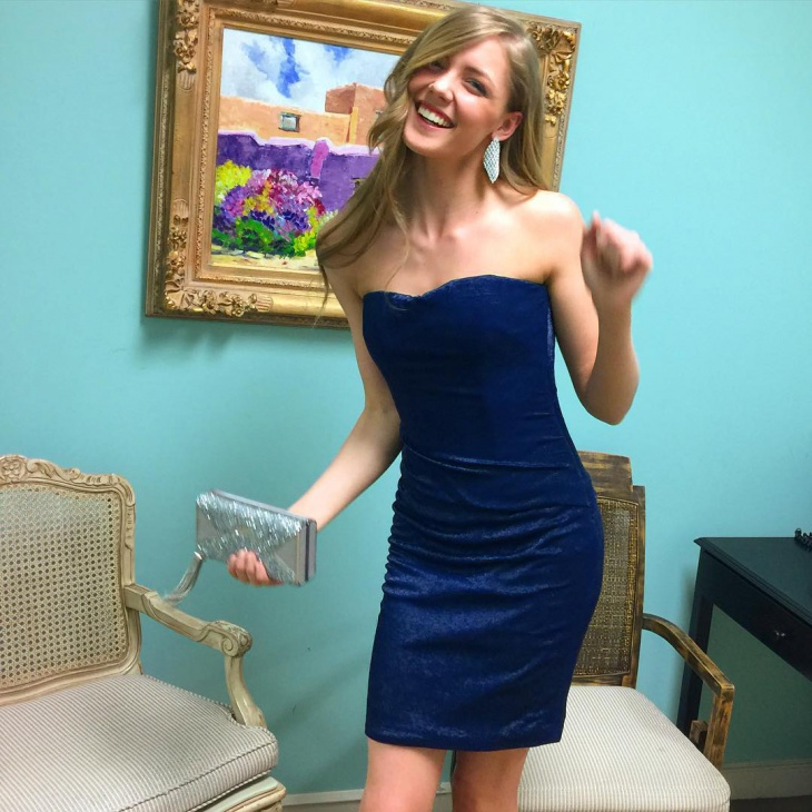 Navy Blue Ruched Mini Dress