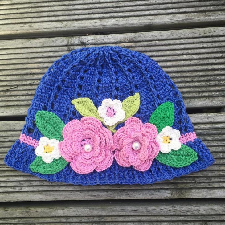 crochet spring hat design
