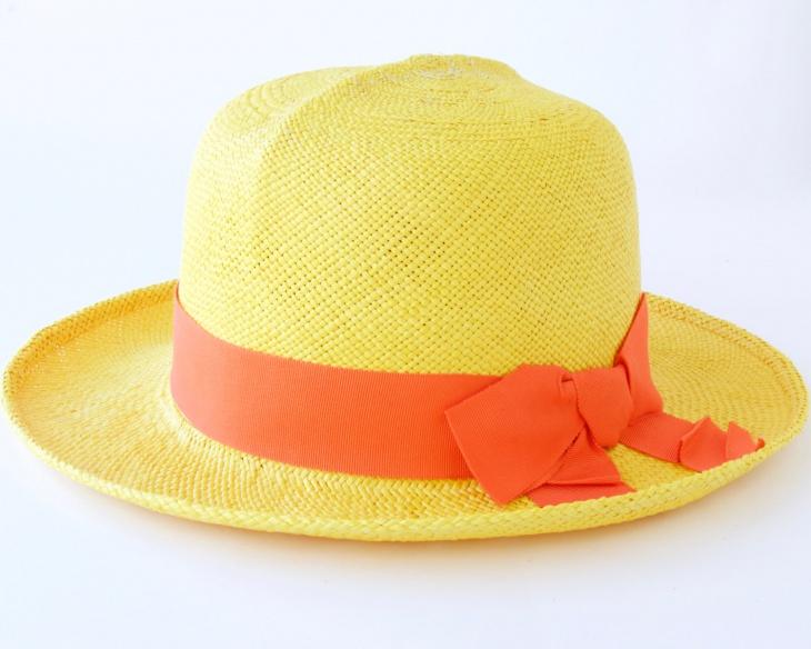 yellow spring hat design