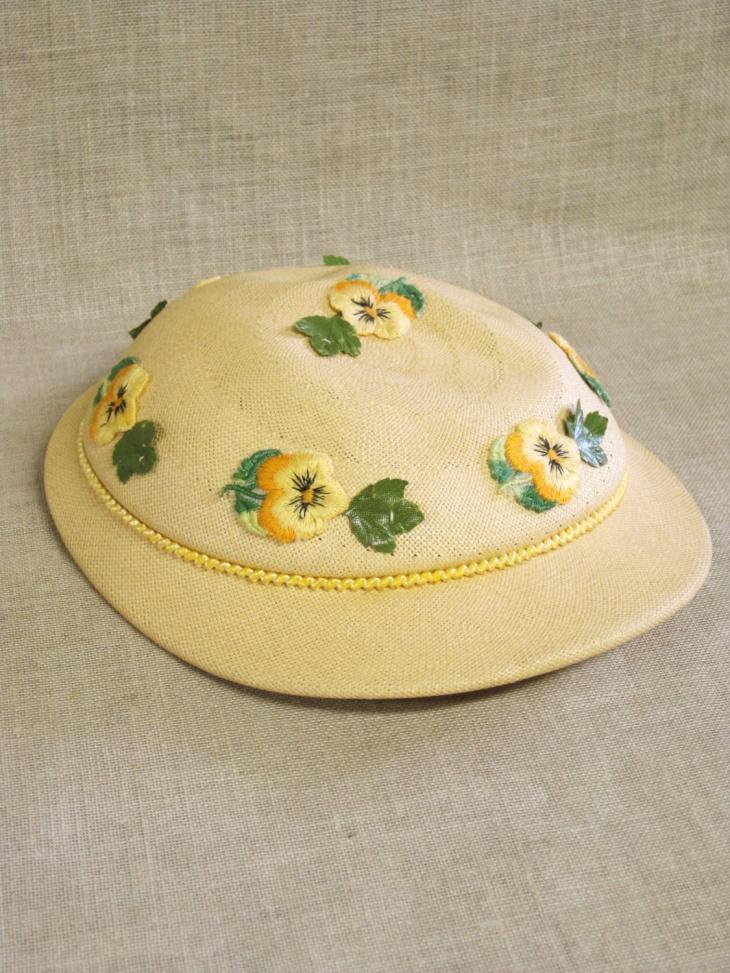 vintage floral spring hat