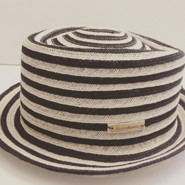 black and white spring hat