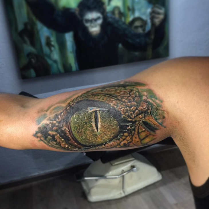 Crocodile Eye Tattoo Idea