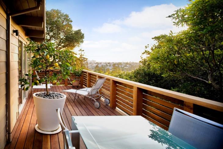 Wooden Balcony Railing