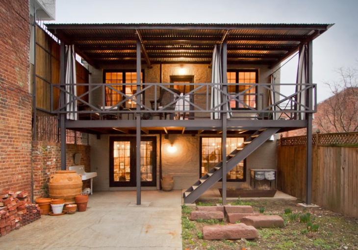 Balcony Black Railing Idea
