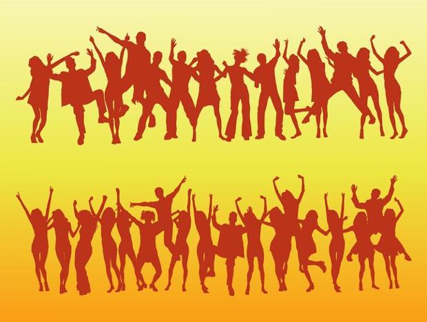 Dancing Crowd Vector