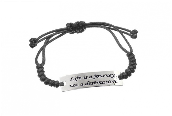 leather jewelry with quote