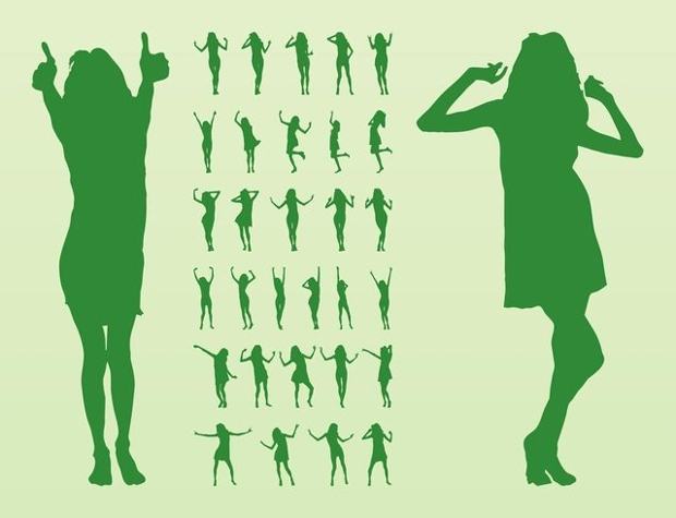 Zumba Dance Girls Vector