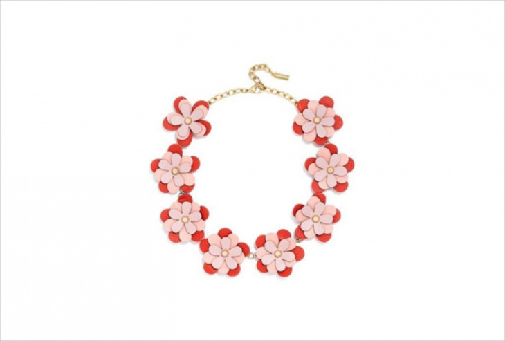 leather flower jewelry design