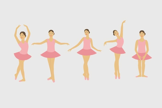 Young Dance Vector Illustration