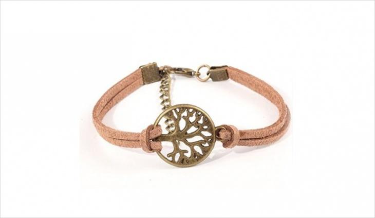 simple leather bracelet idea