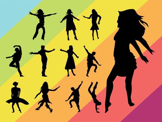 Free Dancing Crowd Vector