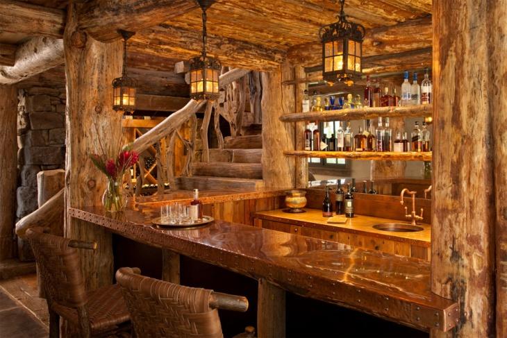 rustic portable home bar