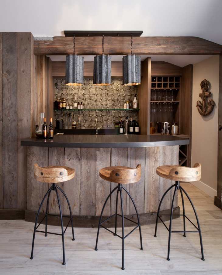 17+ Rustic Home Bar Designs, Ideas
